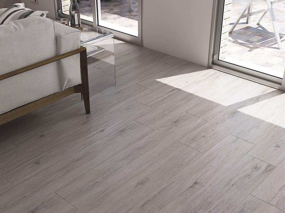 Gạch vân gỗ Cifre Hampton Pearl Mate là loại gạch Porcelain có kích thước 20x120 cm.