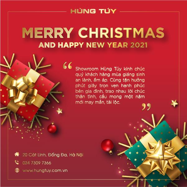 Showroom Hùng Túy kính chúc toàn thể khách hàng mùa giáng sinh an lành, ấm áp.