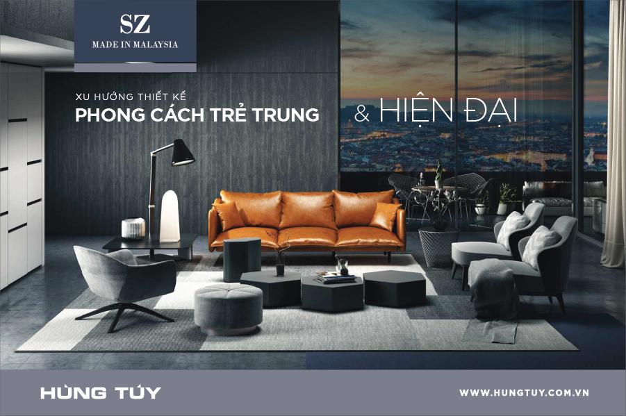 Bộ sofa SZ vừa mang phong cách thiết kế hiện đại, sang trọng của Châu Âu