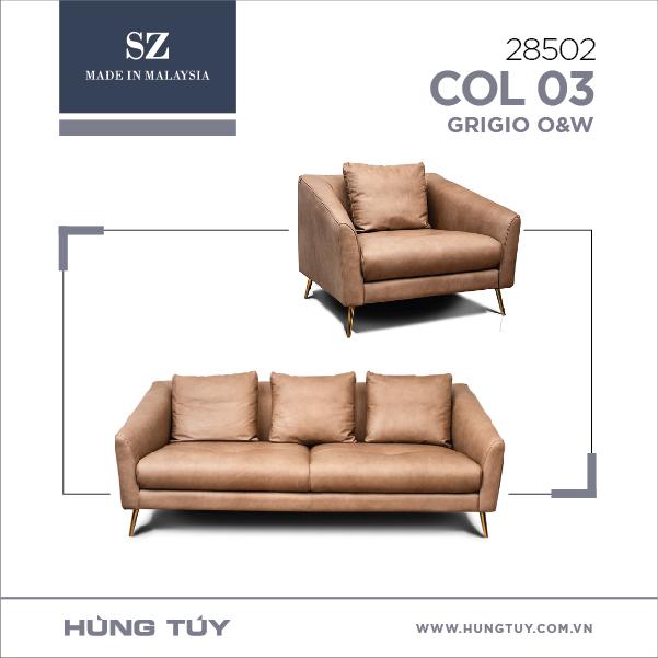 Bộ sofa SZ - 28502/Col 03 Grigio O&W