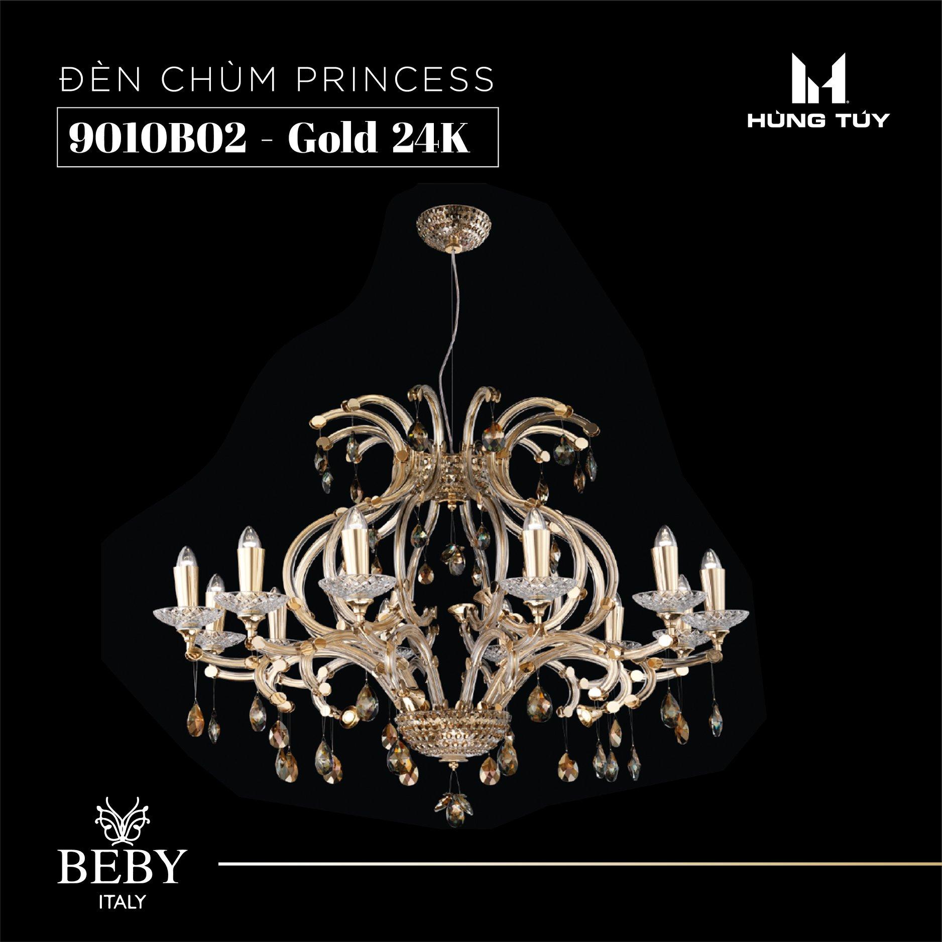 Đèn chùm 90010B02 - Gold 24k