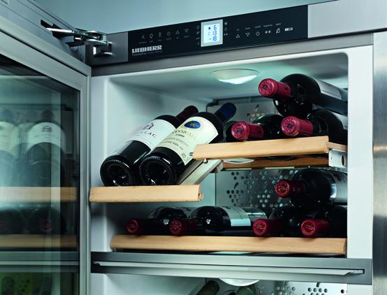 Khoang nhiệt độ bảo quản rượu