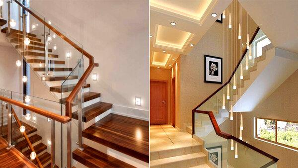 Lựa chọn đèn trang trí cầu thang phù hợp với phong cách nội thất