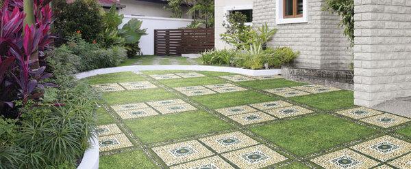 gạch ốp sân vườn khả năng chống thấm nước