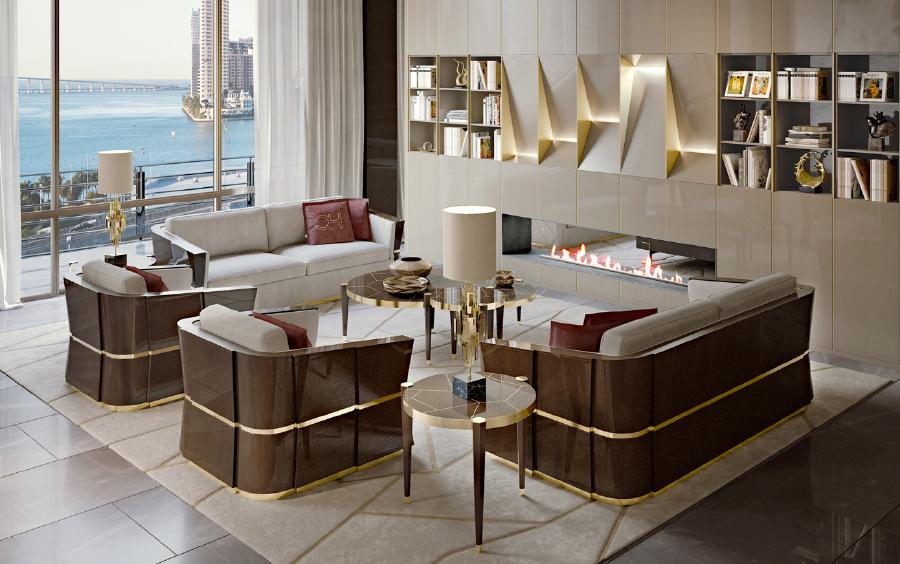 Sofa ghế đôi Carpanese Home - Art.7536 trong không gian nội thất