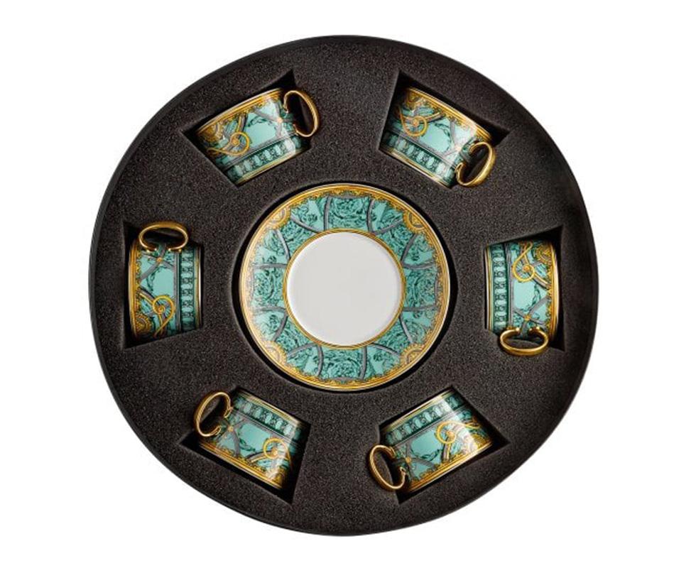 Bộ 6 chén + 6 đĩa Versace - La Scala Del Palazzo 19335-403664-29253