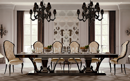 bàn ăn Carpanese Home - Art.6153/FS