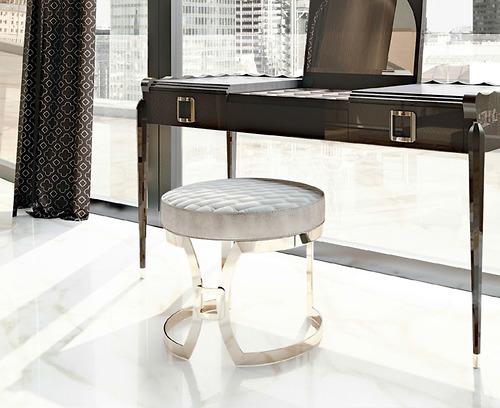 ghế bàn trang điểm Carpanese Home - Art.7088 màu trắng