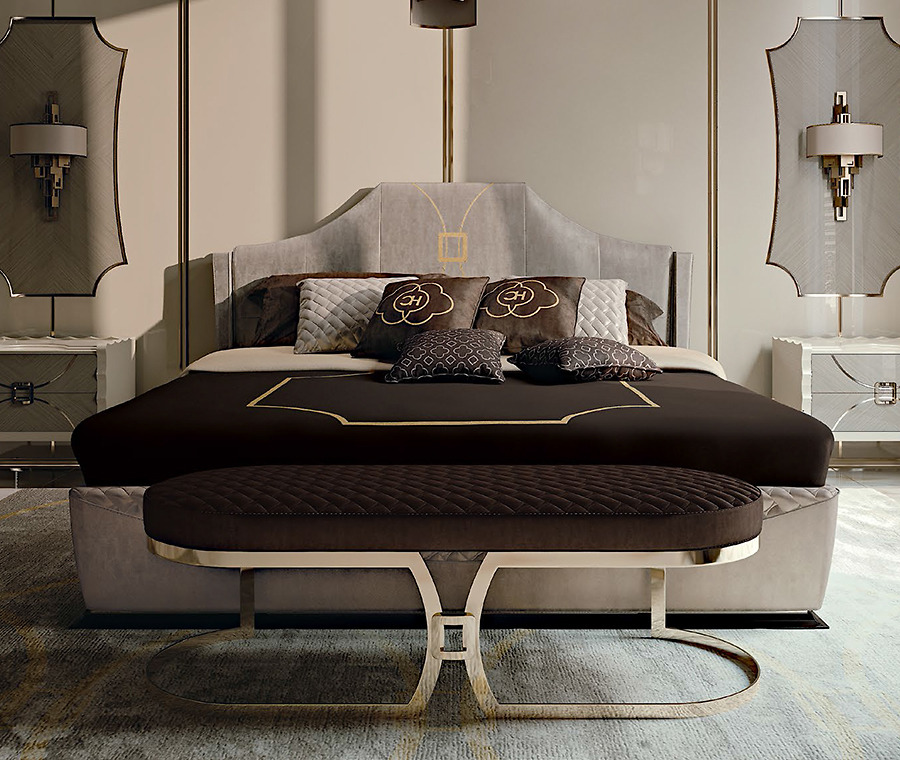 Giường Carpanese Home Art.7089 được làm từ gỗ thịt Lime nhiều lớp, nhờ vậy giường có khả năng chịu lực tốt