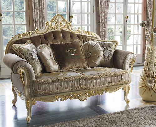 Kích thước sofa ghế đôi MobilPiu - Opera Patina Beige:1810 x 950 x 1230 mm