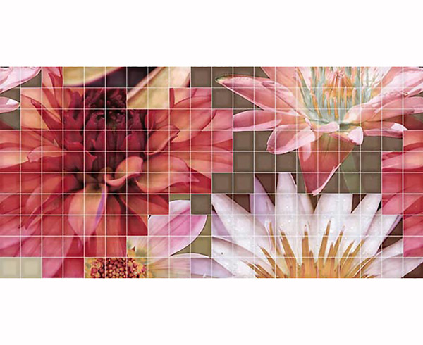Gạch nhân màu Decor. Mosaico Crema Flor 1