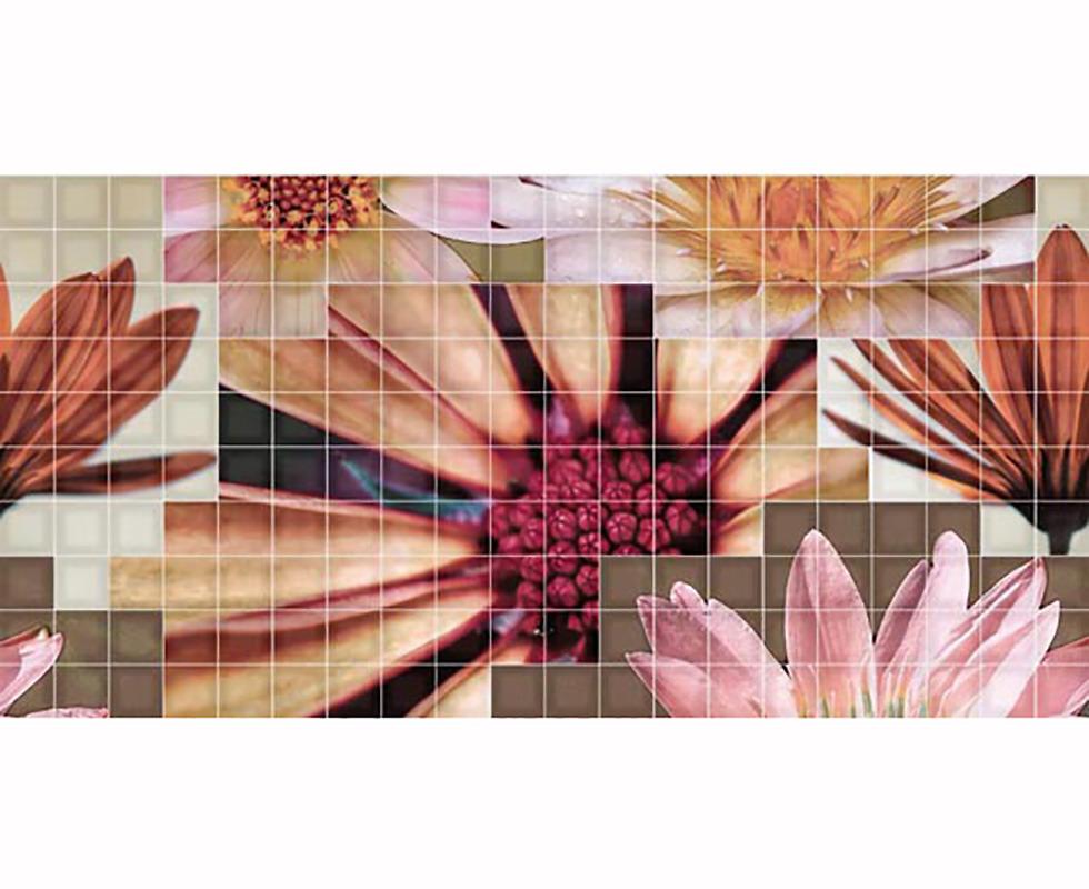 Gạch nhân màu Decor. Mosaico Crema Flor 2