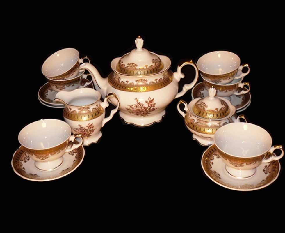 Bộ ấm trà Depos Fascia Oro Fiore 199/805/9