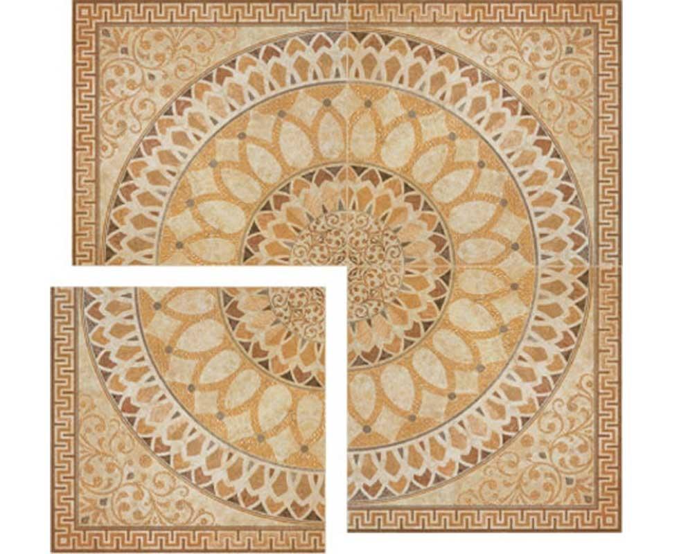 Gạch hoa chiếu 5011 Crema Miel Roseton