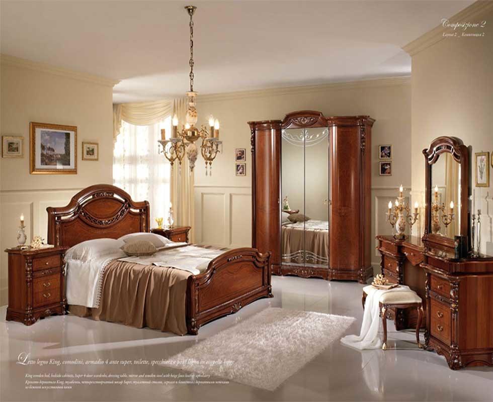 Bộ giường ngủ MobilPiu - Regina Noce