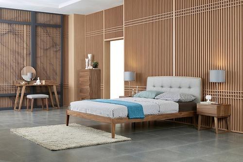 Bàn trang điểm Centro Casa- Anna, giường ngủ CP1702B-08-180200-V36F/82 vàtủ đầu giườngCentro Casa - Anna