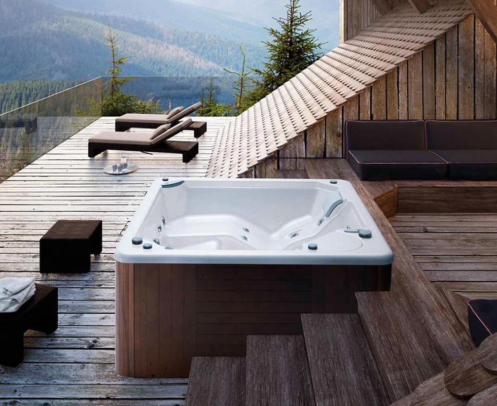 Bồn tắm massage Glass - Myspa 195