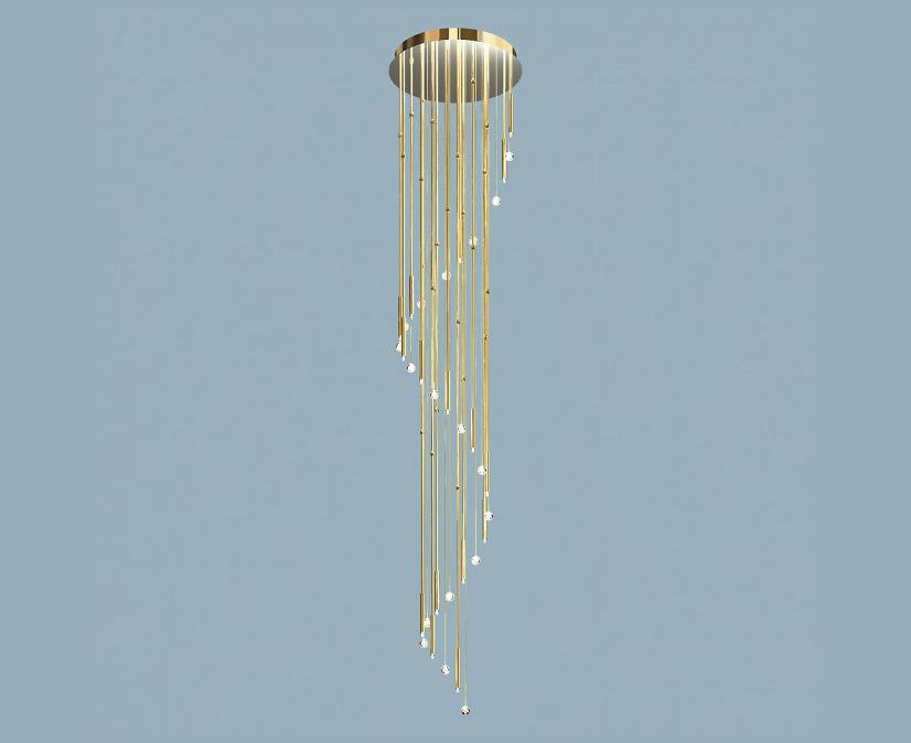 Đèn chùm Orion - DLU 2345/60/18/3,4M/ Gold