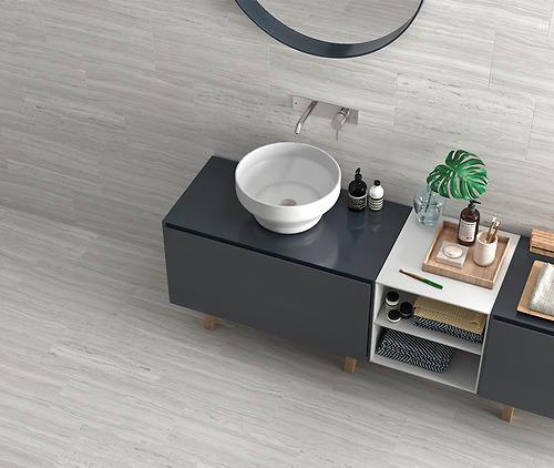 Gạch vân đá Marble Argenta - Autumn Grey là loại gạch Porcelain, có độ hút nước <=0.5%.