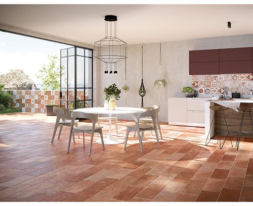 Gạch giả cổ Villa Rossi kích thước 20x40làm bằng chất liệu Porcelain có độ hút nước ≤0.5% được sản xuất và nhập khẩu bởi hãng gạch hàng đầu Italy.