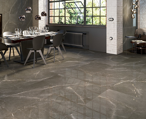 Gạch vân đá marble 6604 Gris thuộc loại gạch Porcelain có độ hút nước ≤0.5%.