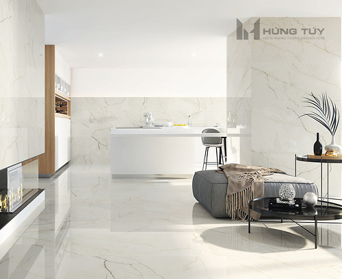 Gạch vân đá marble Amboise Lux Pol kích thước 60x120 cm được làm từ chất liệu Porcelain, độ hút nước ≤0.5%