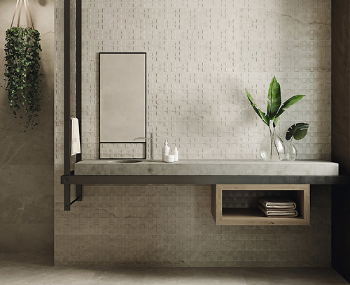 Gạch vân đá marble Fanal Milorrd Mosaico Natural 90 kích thước 31.6x90 cm
