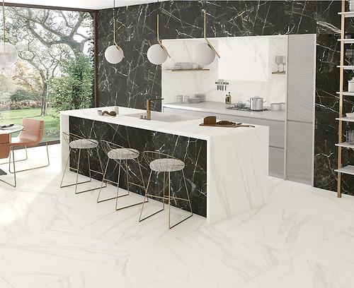 Gạch vân đá Marble Macaođược làm bằng Porcelain có độ hút nước <0.5%