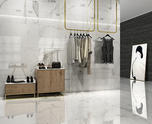 Gạch vân đá marble Palatina Blanco Pulido làm bằng chất liệu Porcelain có độ hút nước ≤0.5% được sản xuất và nhập khẩu bởi hãng gạch hàng đầu Tây Ban Nha.