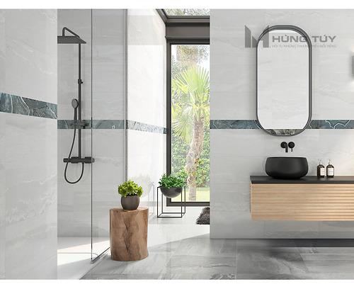 Gạch vân đá marble - Cr. Whitehall Ash Pul làm bằng chất liệu Porcelain có độ hút nước ≤0.5% được sản xuất và nhập khẩu bởi hãng gạch hàng đầu Tây Ban Nha.