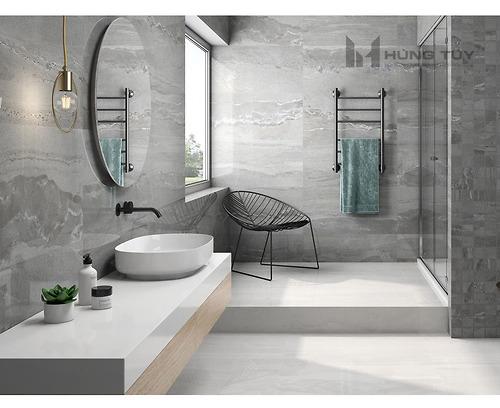 Gạch vân đá marble - Cr. Whitehall Gris Pul làm bằng chất liệu Porcelain có độ hút nước ≤0.5% được sản xuất và nhập khẩu bởi hãng gạch hàng đầu Tây Ban Nha.