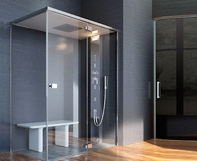 Bồn tắm xông hơi Glass - Noor Steam