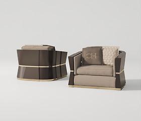 Sofa ghế đơn Carpanese Home - Art.7537