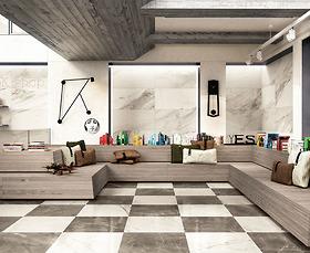 Bộ gạch vân đá marble White Experience