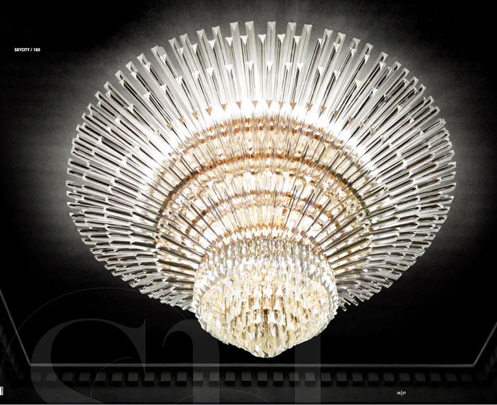 Đèn ốp trần Novaresi - SKYCITY/130/ Gold